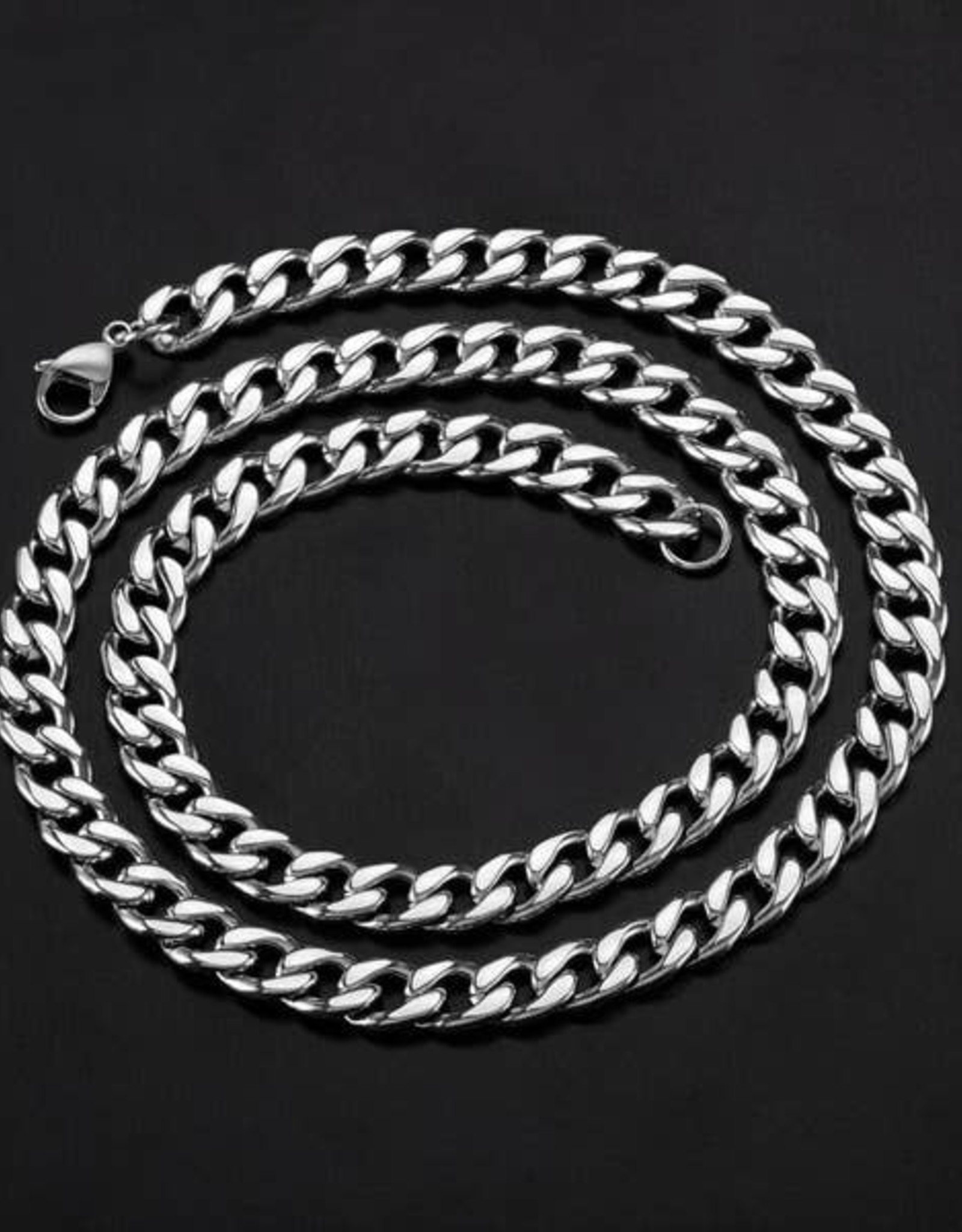 NECKLACE-CRUCIBLE MEN'S CURB STAINLESS STEEL