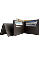 WALLET-TRADITIONAL BIFOLD, LEATHER, BROWN