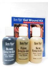 Ben Nye FX GEL WOUND KIT,  2 OZ BOTTLES