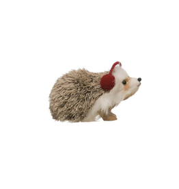 ORNAMENT-FAUX FUR-HEDGEHOG
