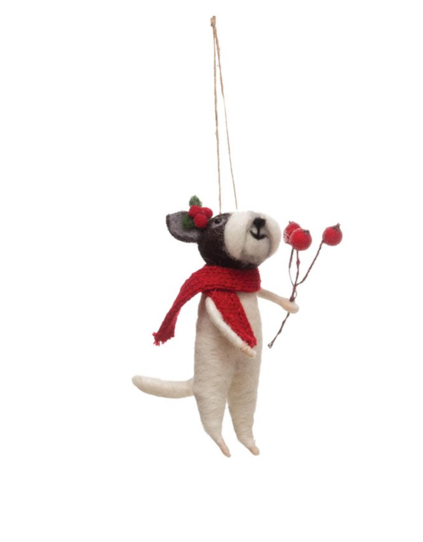 ORNAMENT-FELT-DOG