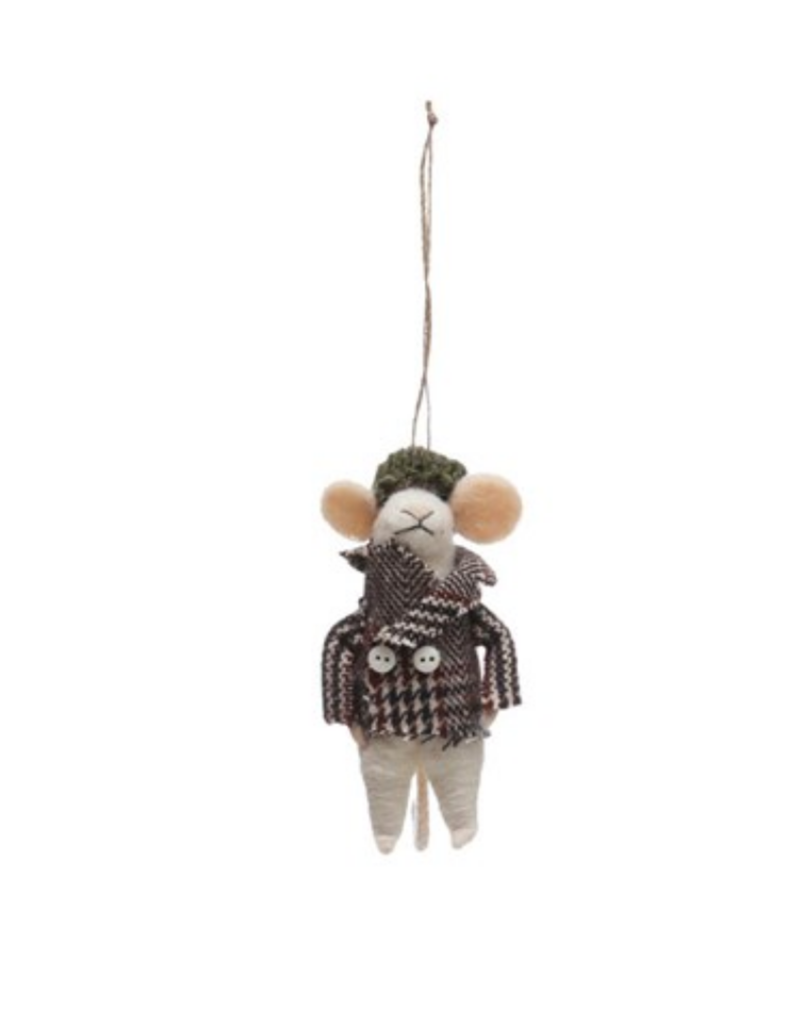 ORNAMENT-FELT-MOUSE IN OUTFIT