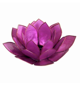 CANDLE-TEALIGHT HOLDER, PEARL LOTUS FLOWER,