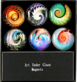 MAGNET SET-GLASS-NAUTILUS, 6PC