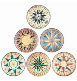 """TRAY-GLASS-COMPASS, 4.125"""""""