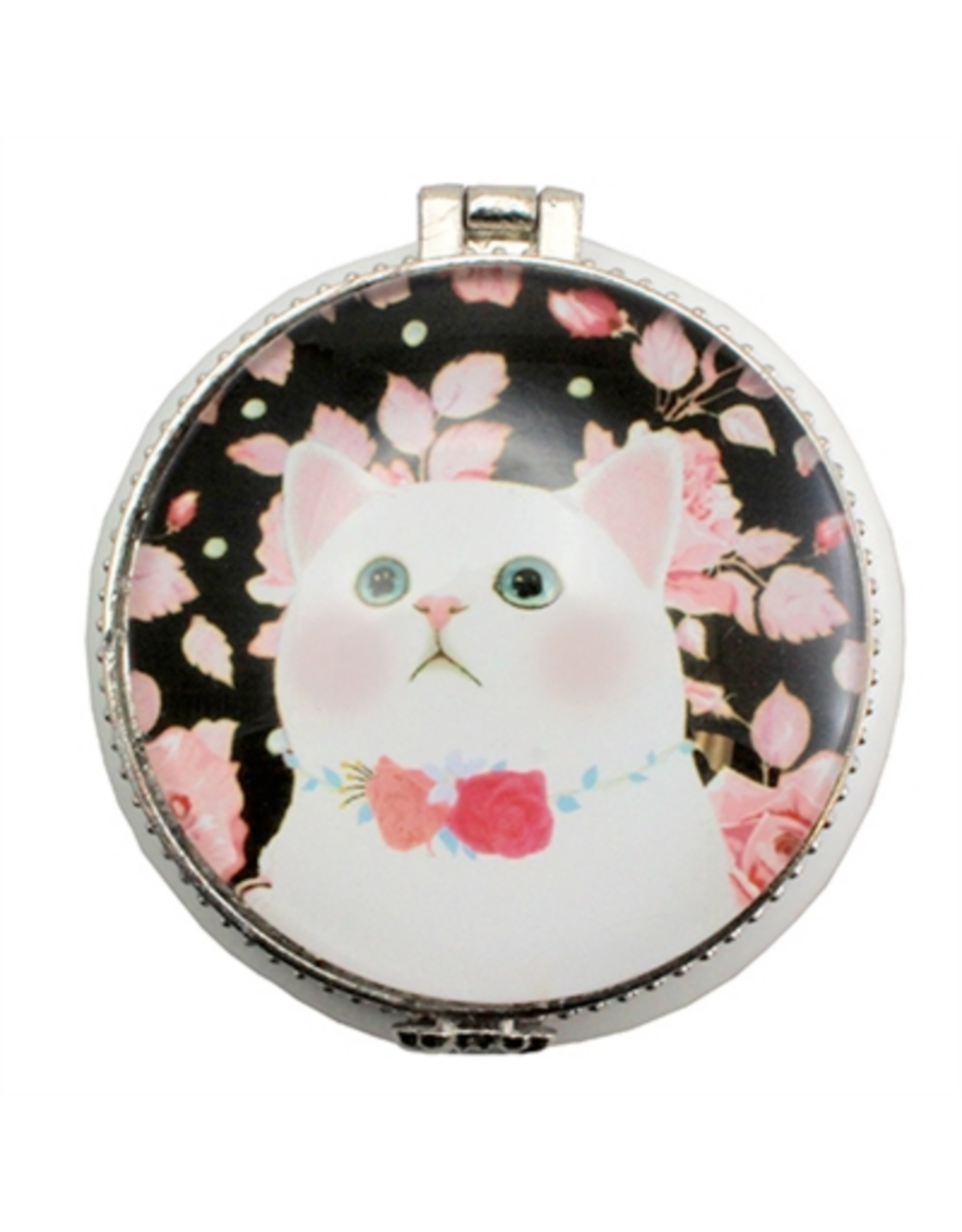 TRINKET BOX-ROSY CAT, CERAMIC
