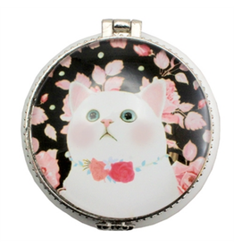 TRINKET BOX-ROSY CAT, CERAMIC
