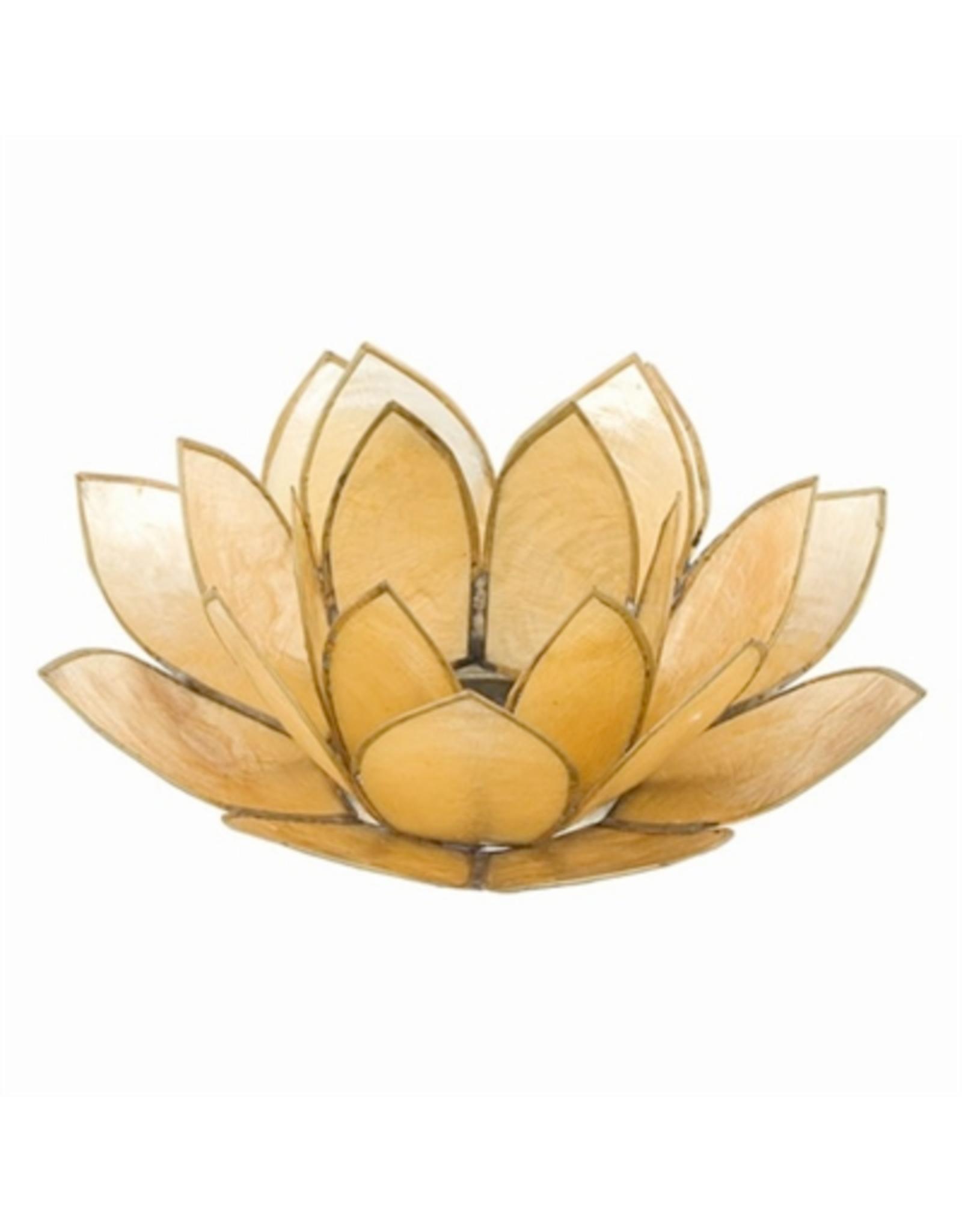 CANDLE-TEALIGHT HOLDER, PEARL LOTUS FLOWER,