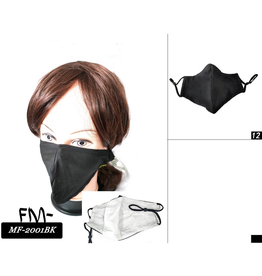 FACE MASK-COTTON, BLACK