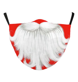 FACE MASK-SANTA BEARD, ADULT GOOD QUALITY