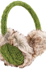 EARMUFFS-SOLID COLOR CABLE KNIT ADJUSTABLE