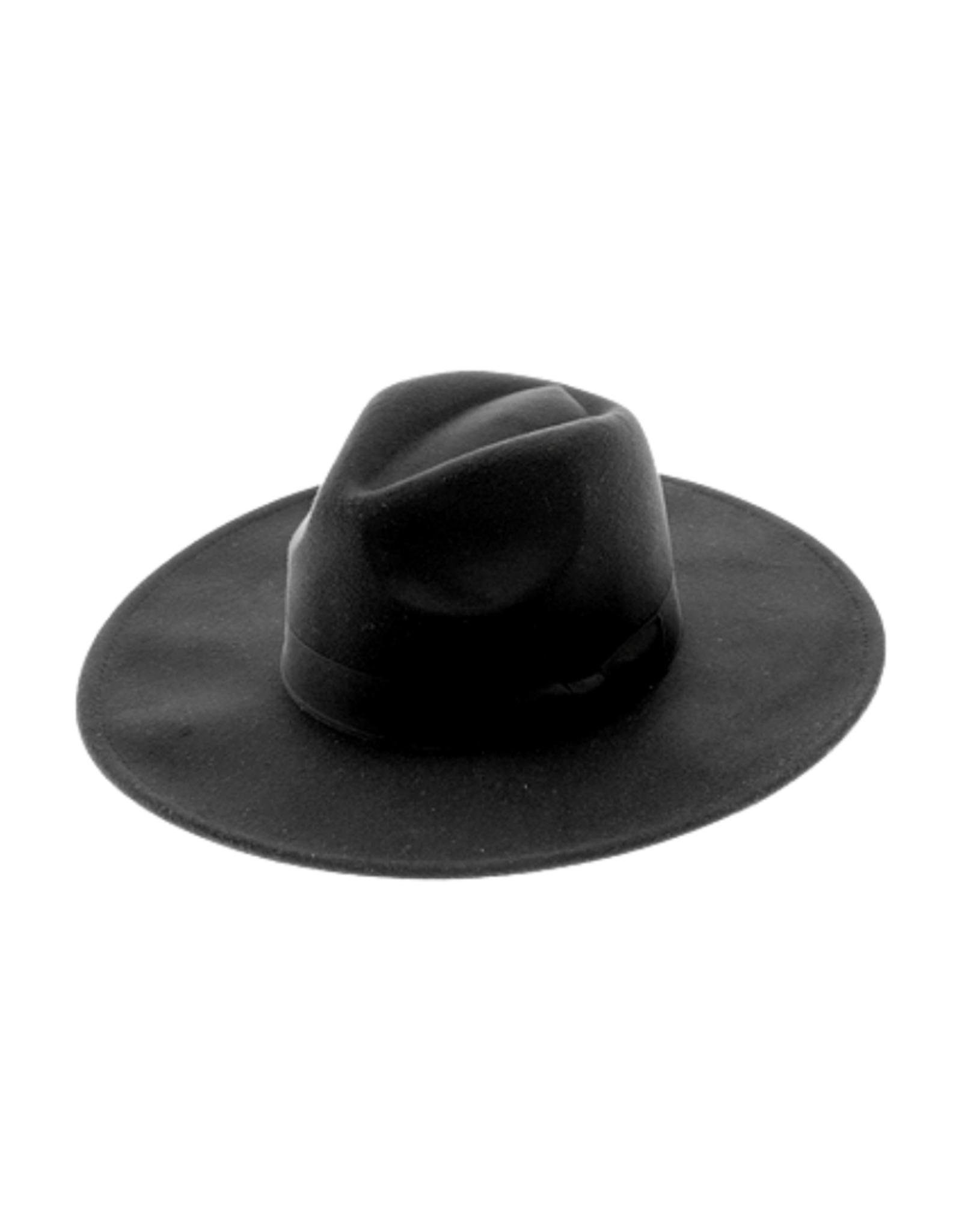 HAT-WIDE BRIM-FEDORA ,FELT