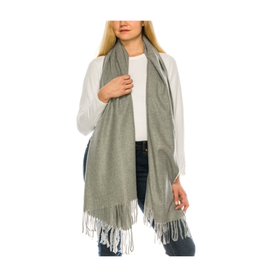 SCARF-FEELS LIKE CASHMERE SHAWL, GREY