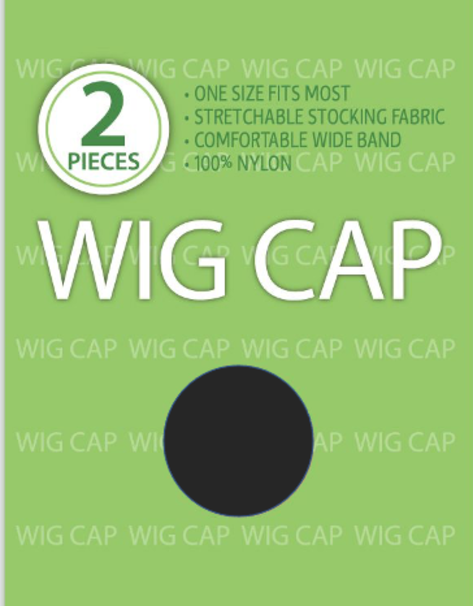 WIG CAP, BLACK, 2PC