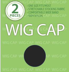WIG CAP, BLACK, 2PC