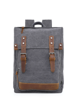 BACKPACK-DISCOVERY-CANVAS W LEATHER