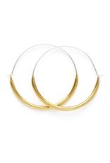 Faire/Minds Eye Design EARRINGS-TUBE HOOPS LG, GOLD