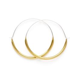 Faire/Minds Eye Design EARRINGS-BIG TUBE HOOPS, GOLD