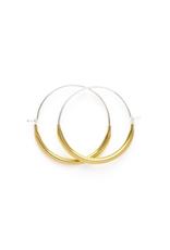 Faire/Minds Eye Design EARRINGS-LITTLE TUBE HOOPS, GOLD