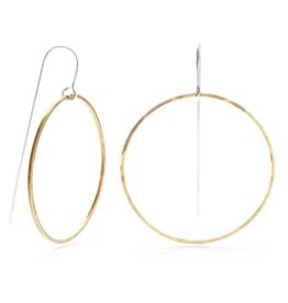 "Faire/Minds Eye Design EARRINGS-GEOMETRIC THREADERS ""BIG CIRCLE"""