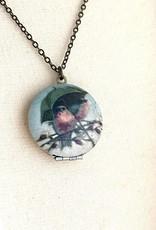 NECKLACE-LOCKET-RAINY DAY BIRD