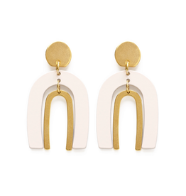 Faire/Amano Studio EARRINGS-ARCHES IN IVORY