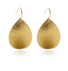 Faire/Amano Studio EARRINGS-HAMMERED TEARDROPS, GOLD