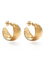 Faire/Amano Studio EARRINGS-HAMMERED VINTAGE STYLE HOOPS