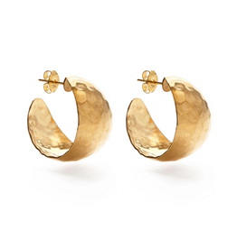 Faire/Amano Studio EARRINGS-HAMMERED VINTAGE STYLE HOOPS