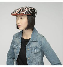 "Kangol HAT-FLAT CAP ""RETRO GEO 504"" PATTERN"