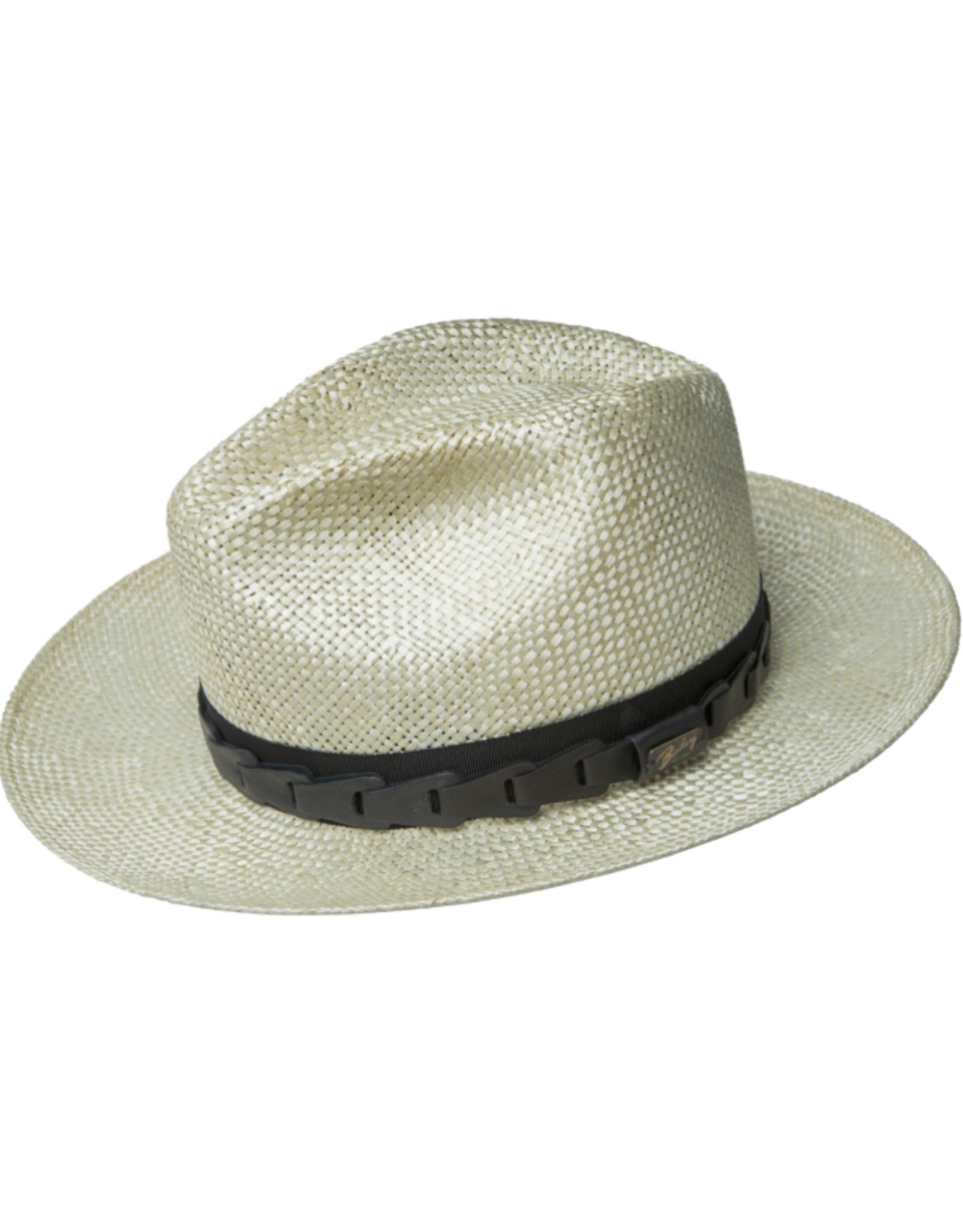 "Bailey Hat Co. HAT-FEDORA  MED BRIM ""RUNDLE"", STRAW"