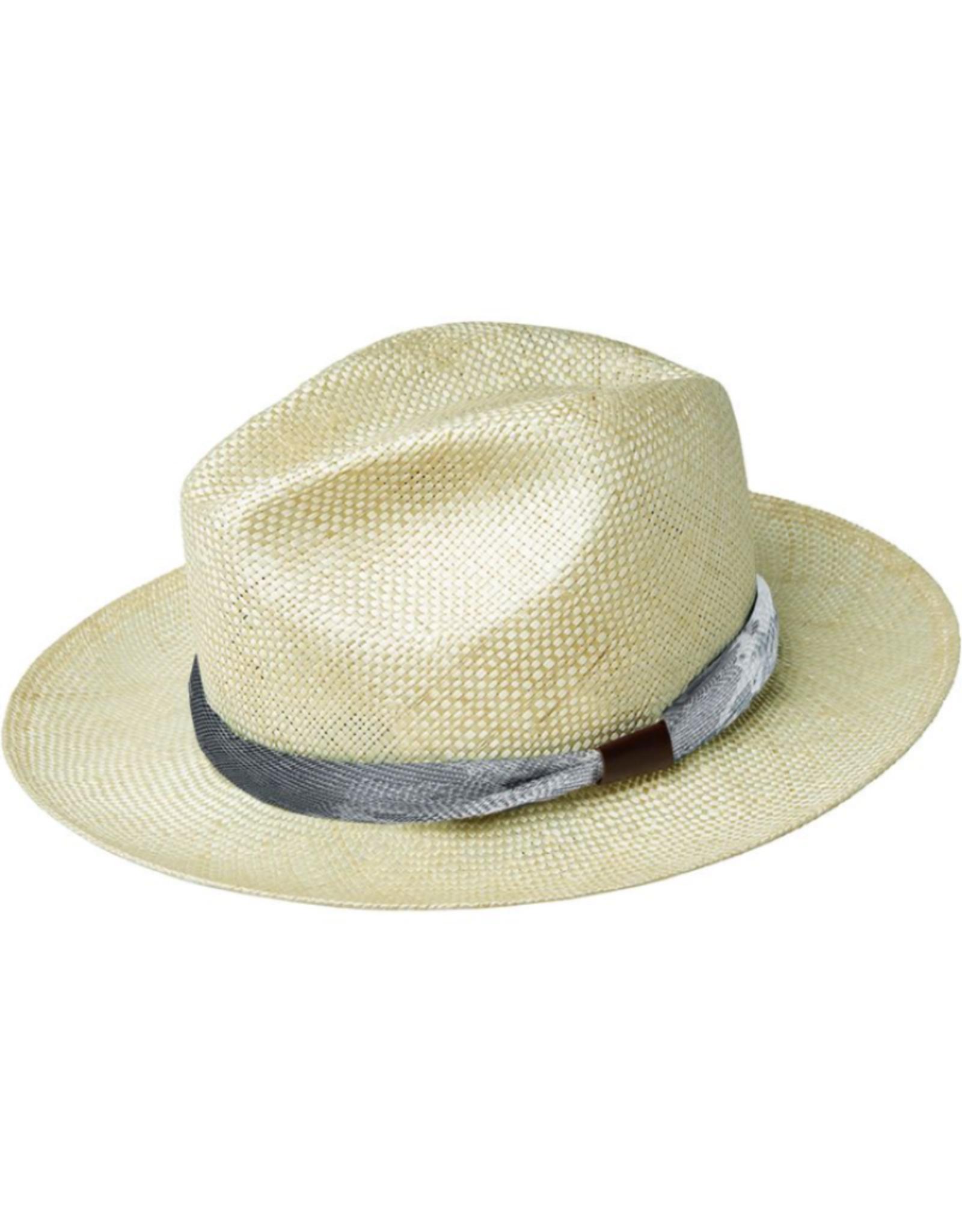 "Bailey Hat Co. HAT-FEDORA MED BRIM ""BRETEN"", SISAL W BAND"