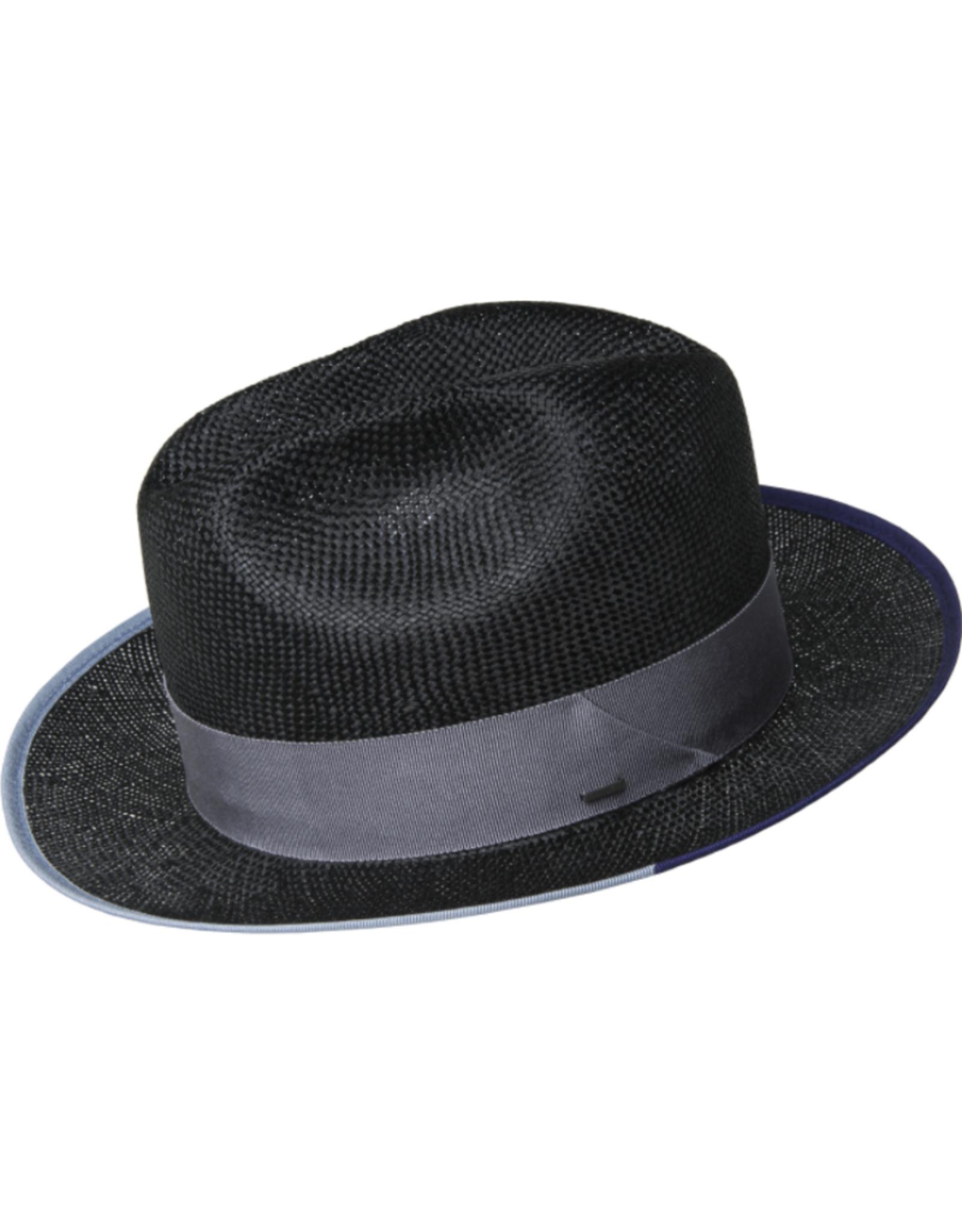 """Bailey Hat Co. HAT-FEDORA MED BRIM """"HESMOND"""", W BOUND BRIM, STRAW"""