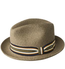"Bailey Hat Co. HAT-FEDORA SMALL BRIM ""SALEM""  W/ STRIPE BD"