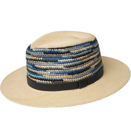 """Bailey Hat Co. HAT-PANAMA """"TASMIN"""" W/WOVEN SIDES AND LEATHER BAND"""