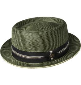 "Bailey Hat Co. HAT-PORKPIE ""CARVER"", PAPER POLY  W/ BAND"