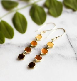 """ABOUND/NO MAN'S LAND EARRINGS """"HONEYCOMB DANGLE"""""""