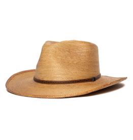 """HAT-WESTERN """"PEACE MAKER"""" STRAW W SMALL BAND COPPER MED"""