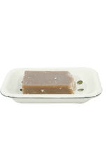 """SOAP DISH-DISTRESSED WHITE W/TRAY, ENAMELED, 6"""""""