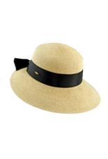 "HAT-SMALL BACK BRIM ""RIVIERA"" W/BOW"