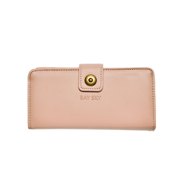WALLET-LARGE RFID, FAUX LEATHER BLUSH