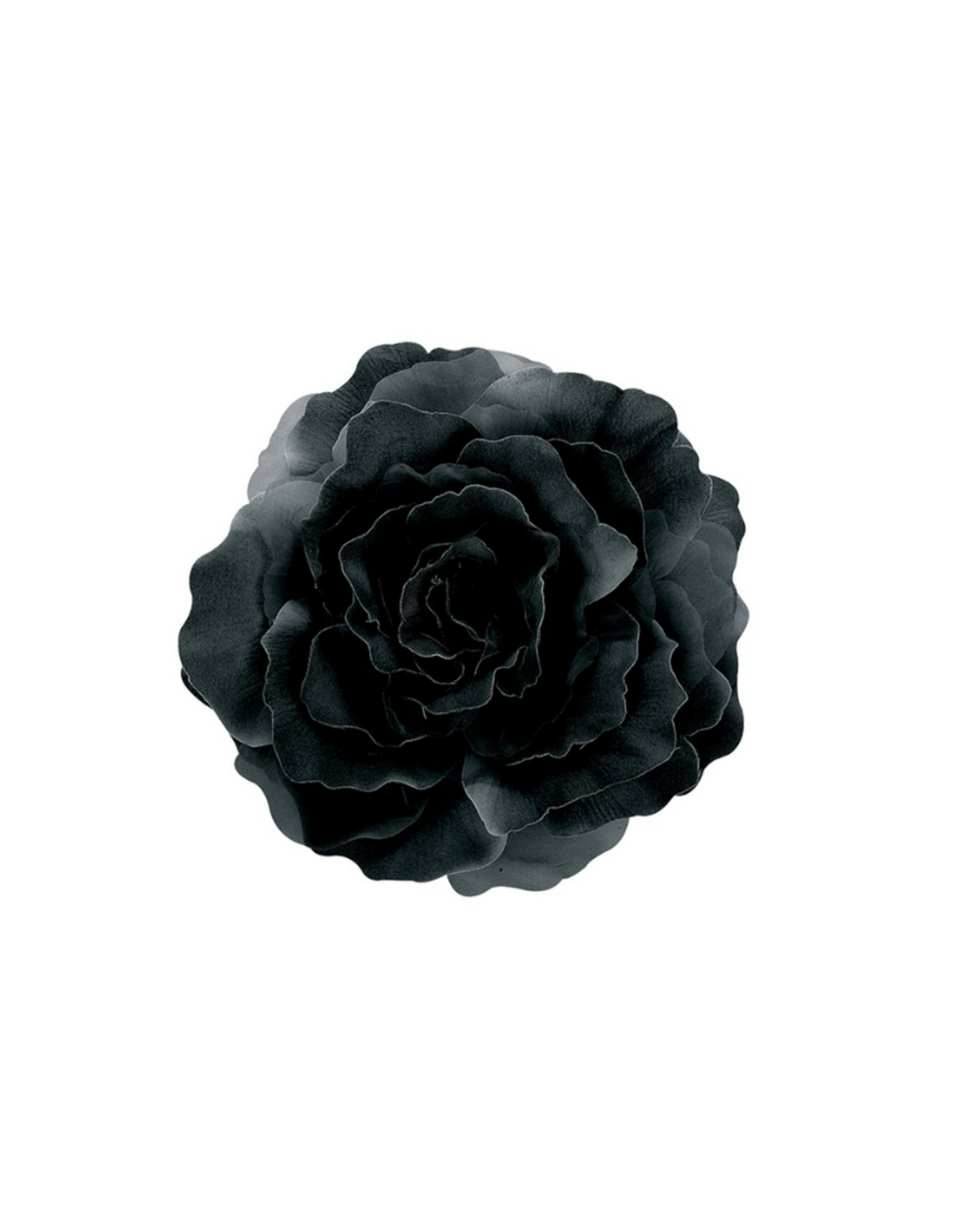 "HEADWEAR-DECOR-XL FLOWER PIN 7"" ROSE, SILK"