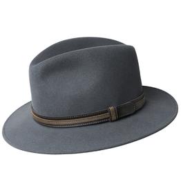 "Bailey Hat Co. HAT-FEDORA ""BRANDT' TURNED DOWN BRIM W/BAND"