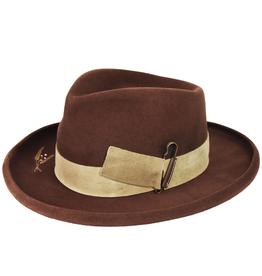 "Bailey Hat Co. HAT-FEDORA ""CASVILLE"" W/TURNED UP BRIM BUCKLE TRIM"