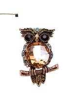 PIN-RHINESTONE OWL