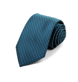 NECKWEAR-STD-NAVY W/PK DOTS POLY