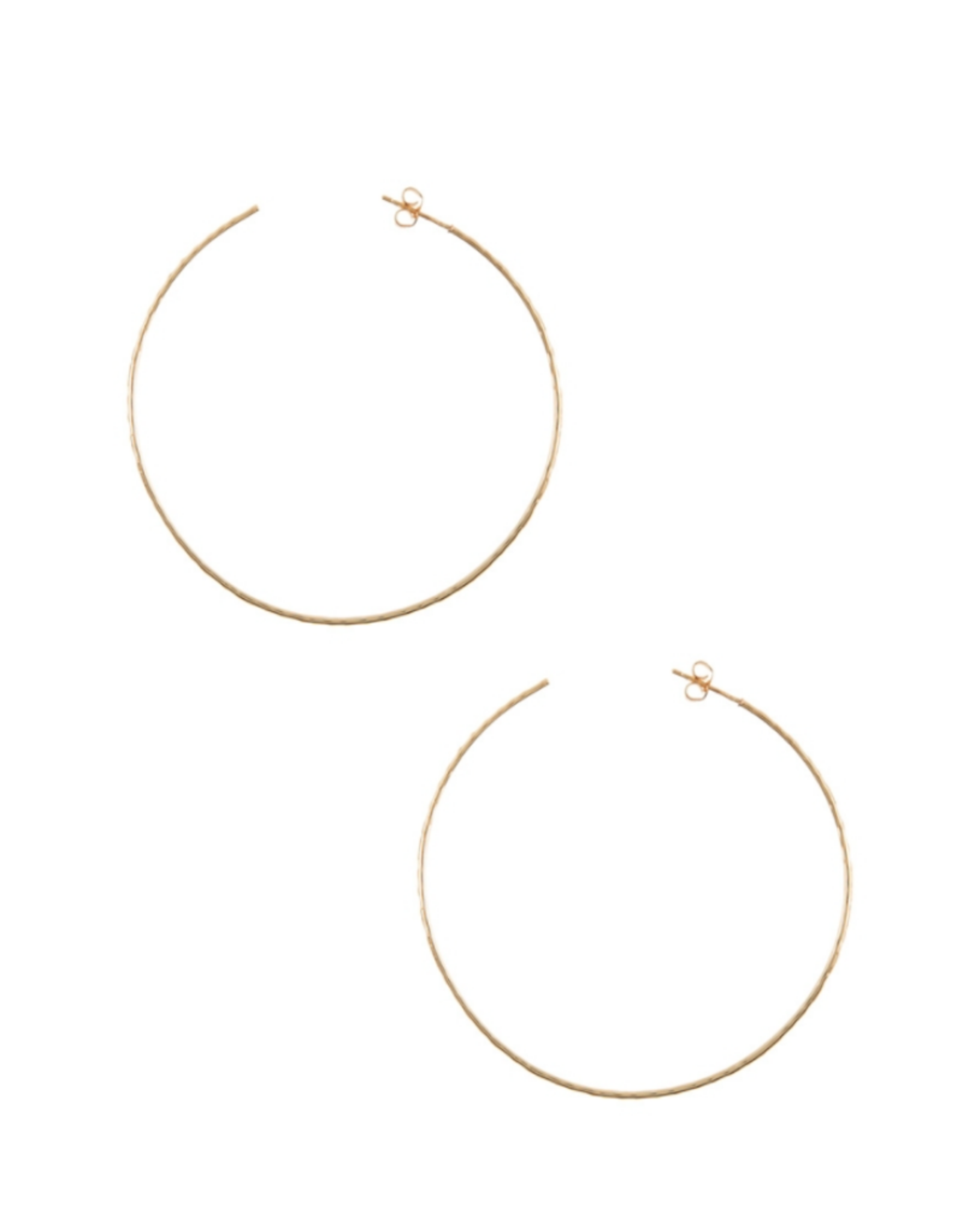 EARRINGS-GOLD DIPPED HOOP  60MM W/ STUD BACK