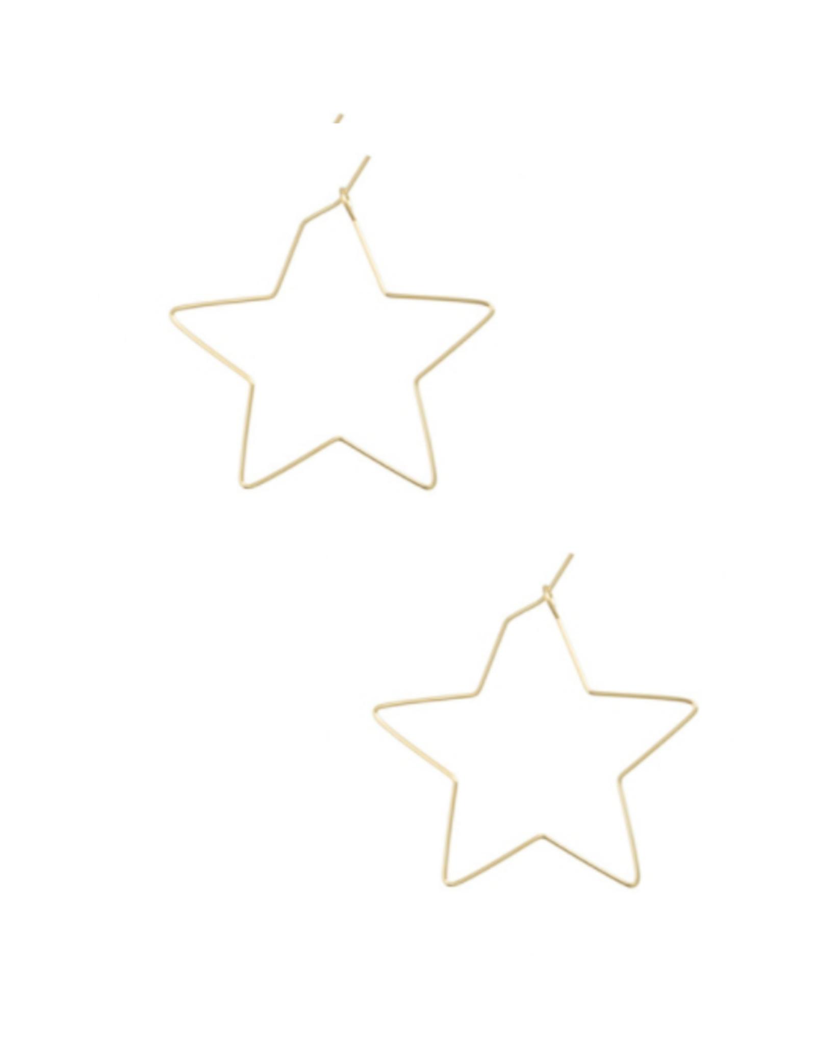 EARRINGS-GOLD DIPPED STARS