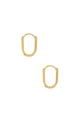 EARRINGS-GOLD DIPPED LINK 15MM