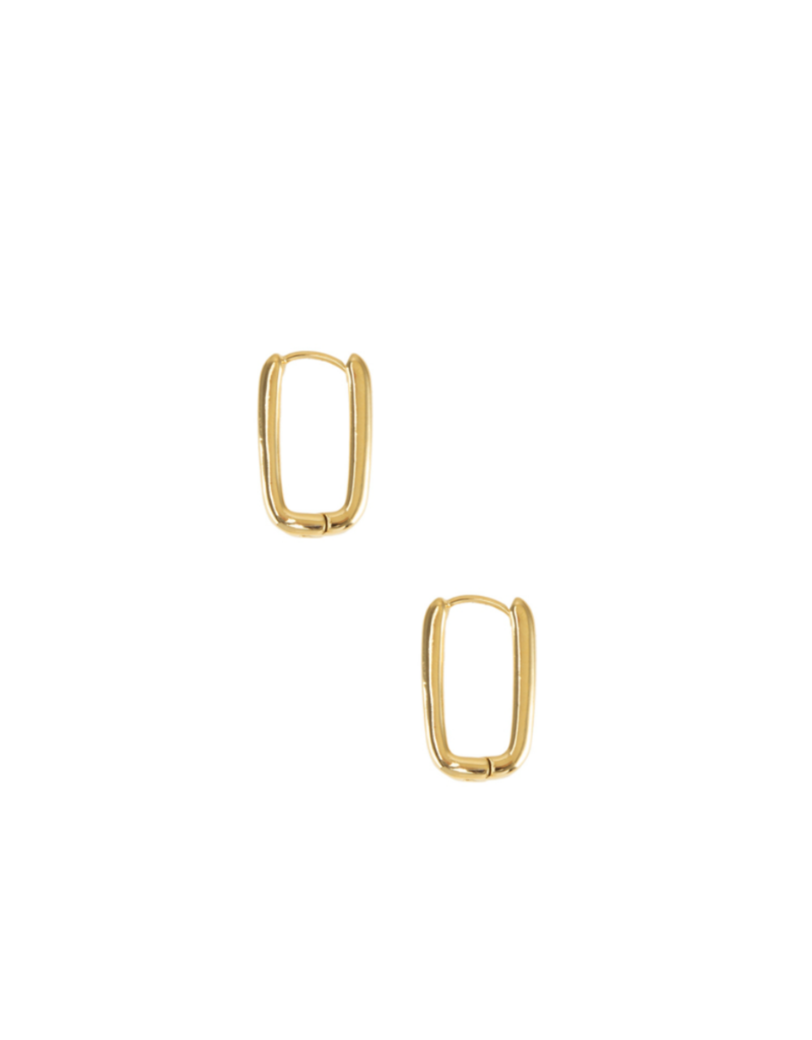 EARRINGS-GOLD DIPPED LINK 2MM